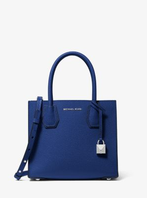 마이클 마이클 코어스 Michael Michael Kors Mercer Medium Pebbled Leather Crossbody Bag,SAPPHIRE