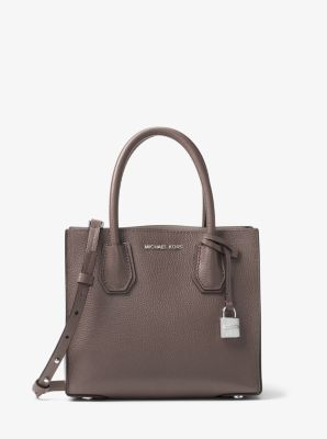 Mercer Medium Bonded-Leather Crossbody by Michael Kors