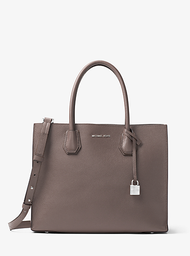 Borsa Tote Mercer grande in pelle accoppiata by Michael Kors