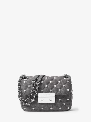 Sloan Small Quilted-Felt Shoulder Bag by Michael Kors