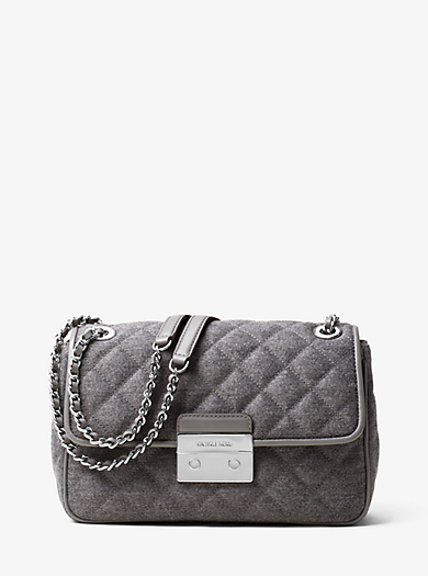 Sloan Large Quilted-Felt Shoulder Bag         by Michael Kors