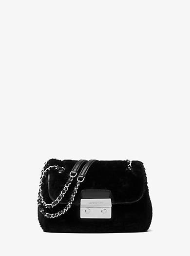 Sloan Small Shearling Shoulder Bag by Michael Kors
