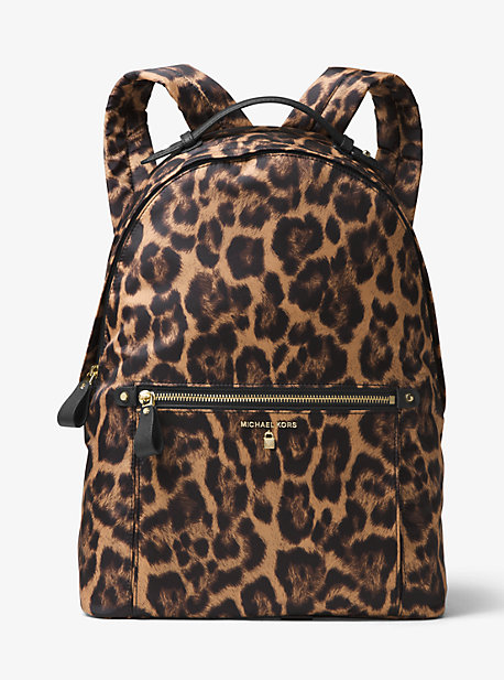1a4cf8200f151 Rucksack Kelsey Aus Nylon Mit Leopardenmuster