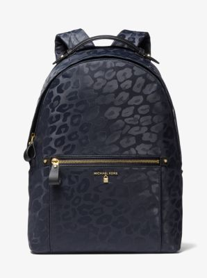 마이클 마이클 코어스 Michael Michael Kors Kelsey Large Leopard Nylon Backpack,ADMIRAL