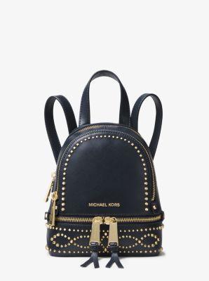마이클 코어스 레아 스터드 가죽 백팩 미니 Michael Kors Rhea Mini Studded Leather Backpack