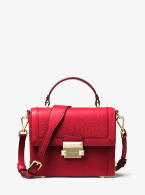 마이클 마이클 코어스 Michael Michael Kors Jayne Small Pebbled Leather Trunk Bag