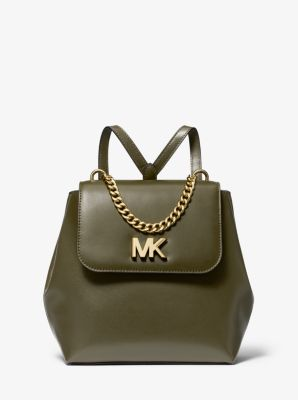 마이클 마이클 코어스 Michael Michael Kors Mott Leather Backpack,OLIVE