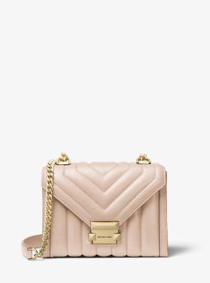 마이클 마이클 코어스 위트니 숄더백 스몰, 퀼팅 금장 (조이, 리사, 이나영 착용) Michael Michael Kors Whitney Small Quilted Leather Convertible Shoulder Bag