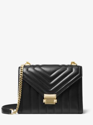 마이클 마이클 코어스 휘트니 라지 퀼팅 숄더백 (이나영 착용) Michael Michael Kors Whitney Large Quilted Leather Convertible Shoulder Bag,BLACK
