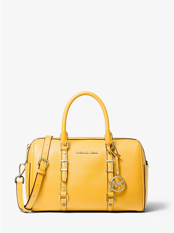 Bedford Legacy Medium Pebbled Leather Duffel Satchel | Michael Kors