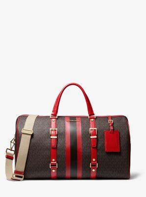 마이클 마이클 코어스 Michael Michael Kors Bedford Travel Extra-Large Logo Stripe Weekender Bag