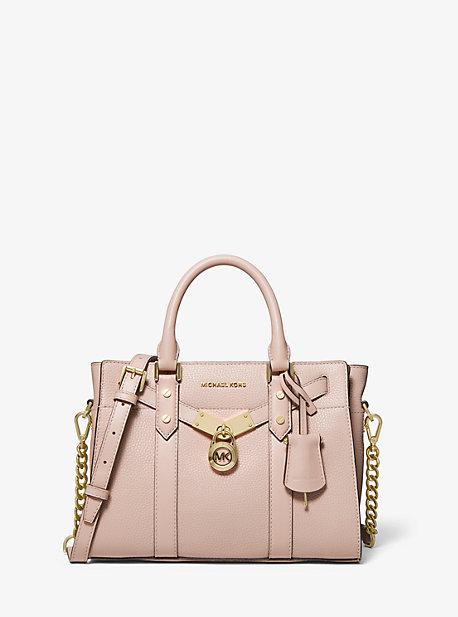 Petit sac porté main Nouveau Hamilton en cuir grainé - ROSE DOUX(ROSE) - Michael Kors