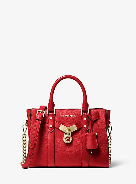 Petit sac porté main Nouveau Hamilton en cuir grainé - ROUGE VIF(ROUGE) - Michael Kors