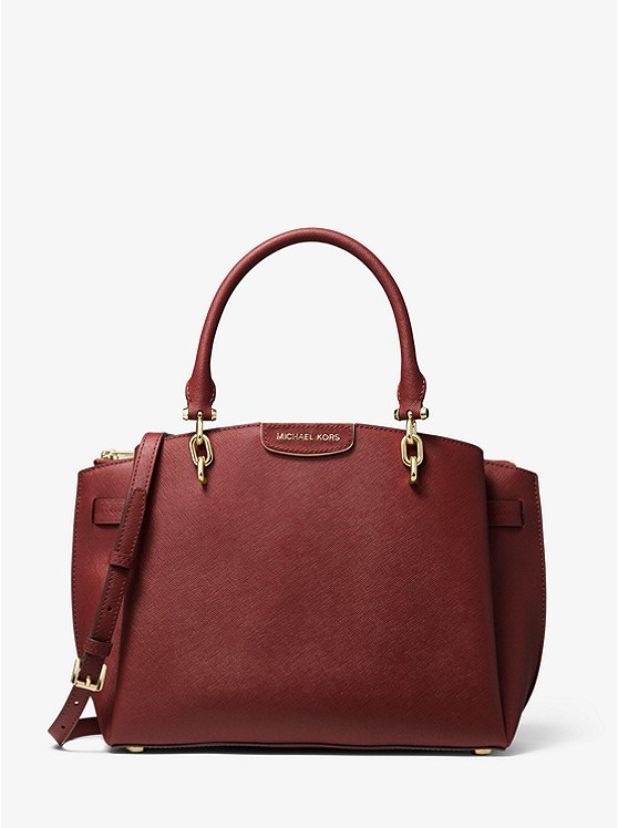 Rochelle Large Saffiano Leather Satchel | Michael Kors