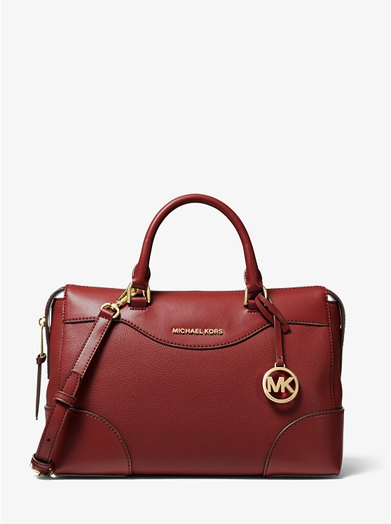 Maya Large Pebbled Leather Satchel | Michael Kors