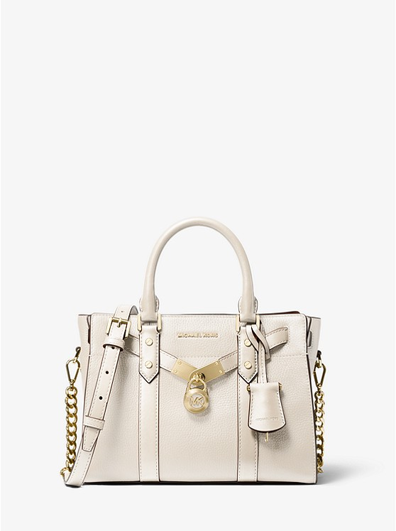 Nouveau Hamilton Small Pebbled Leather Satchel | Michael Kors