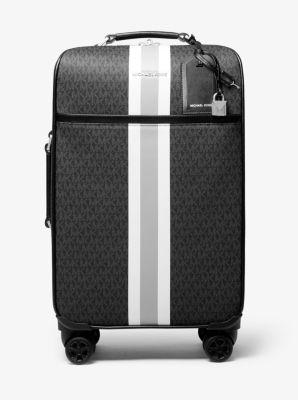 마이클 코어스 맨 코어스 여행용 가방 Michael Michael Kors Bedford Travel Extra-Large Logo Stripe Suitcase,BLACK