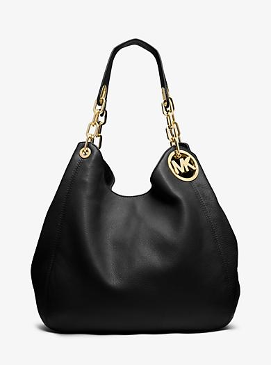 Fulton Large Leather Shoulder Bag by Michael Kors