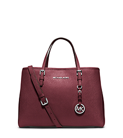 Jet Set Travel Saffiano Leather Medium Tote