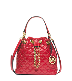 Frankie Medium Quilted-Leather Messenger