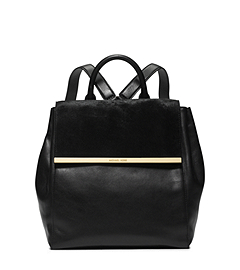 Lana Hair Calf and Embossed-Leather Backpack