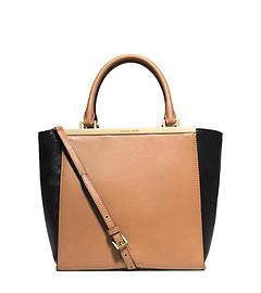 Lana Medium Color-Block Leather Tote