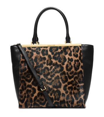 e62a2022fde975 Lana Leopard-Print Hair Calf and Leather Tote
