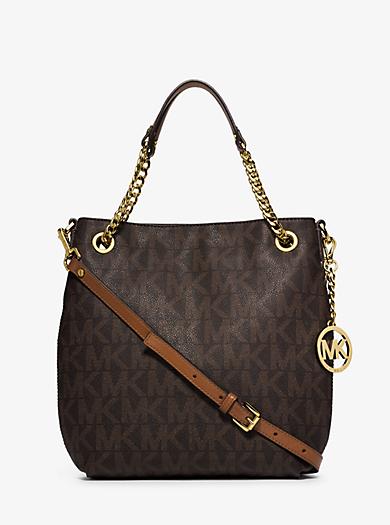 Jet Set Medium Logo Chain Shoulder Bag by Michael Kors