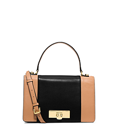 Callie Medium Color-Block Leather Messenger