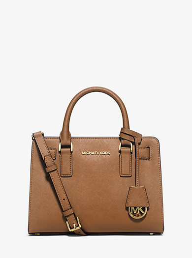 Dillon Small Saffiano Leather Satchel by Michael Kors
