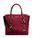 Selby Large Pebbled-Leather Satchel