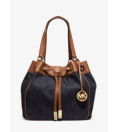Marina Large Denim Drawstring Tote  by Michael Kors