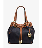 Marina Large Denim Drawstring Tote