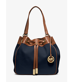 Marina Large Canvas Drawstring Tote  by Michael Kors