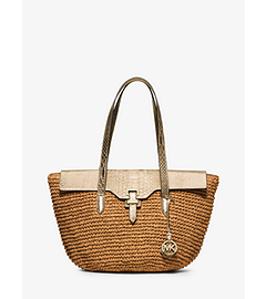 Naomi Large Woven Straw Tote  by Michael Kors