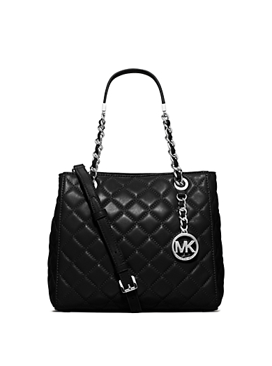 Susannah Small Leather Tote by Michael Kors