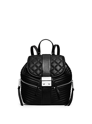 Elisa Small Leather Backpack by Michael Kors