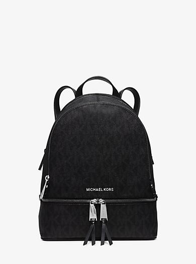 Rhea Medium Logo Backpack by Michael Kors