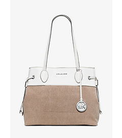 Marina Large Washed-Canvas Tote  by Michael Kors