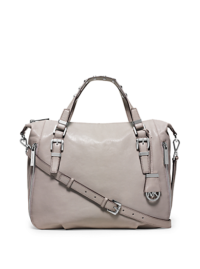 Essex Large Leather Studded Satchel by Michael Kors