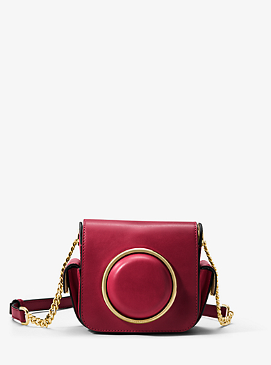 Scout Medium Leather Camera Bag by Michael Kors