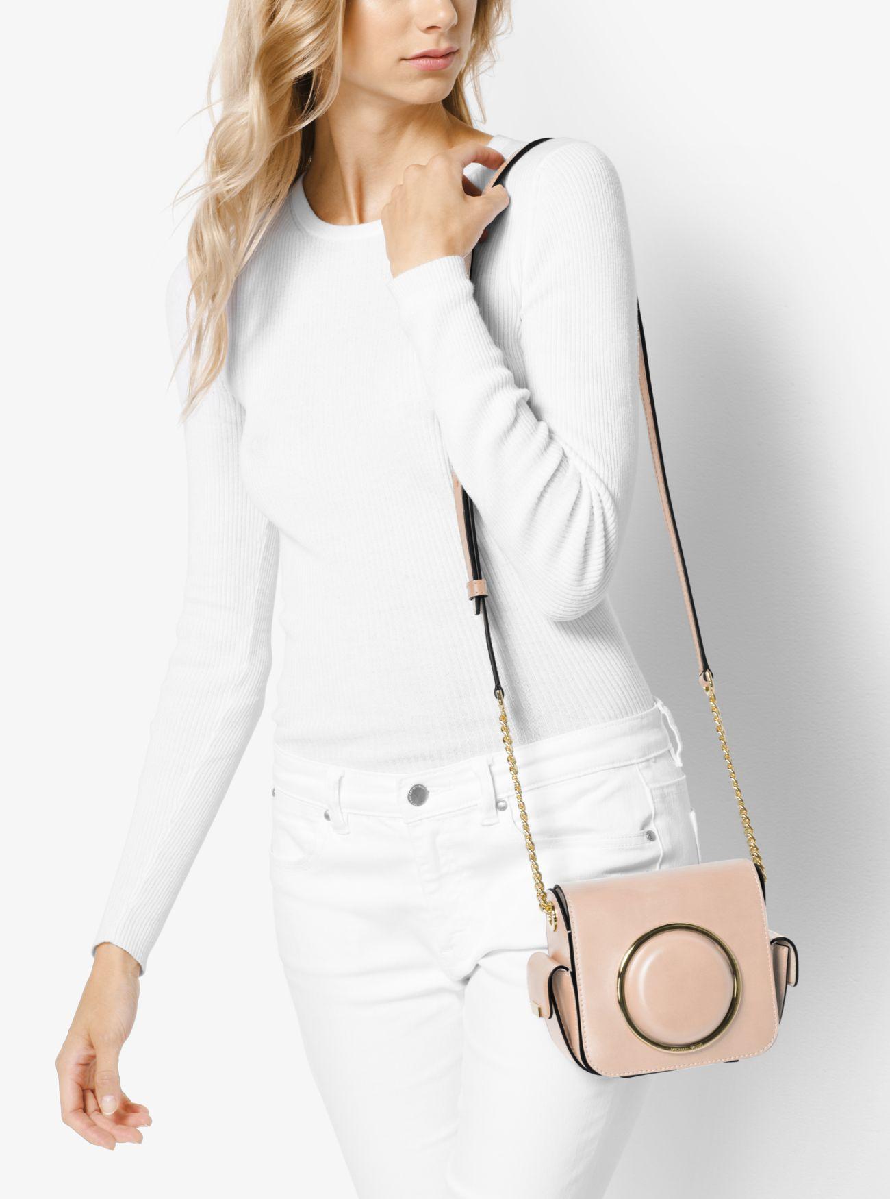 Scout Medium Leather Camera Bag Michael Kors