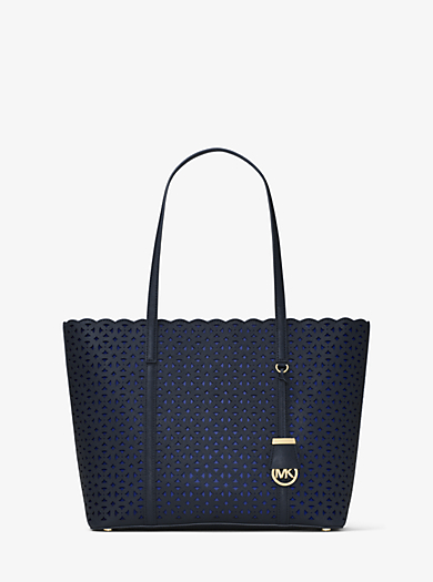 Desi Medium Perforated-Leather Tote by Michael Kors