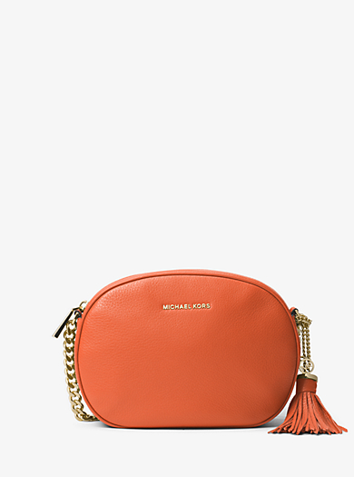 Ginny Medium Leather Crossbody by Michael Kors