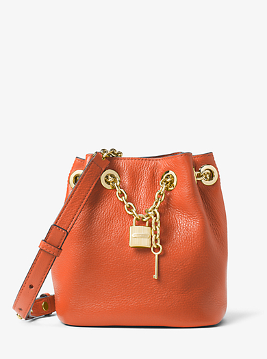 Hadley Medium Leather Messenger by Michael Kors