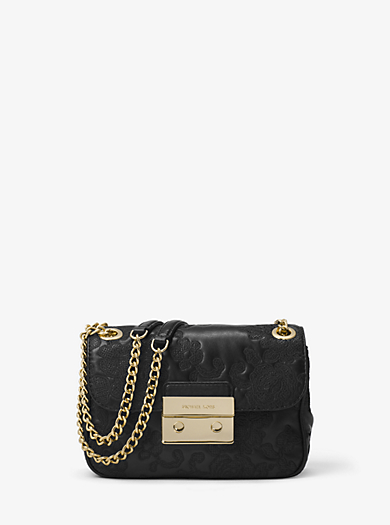 Sloan Small Leather Shoulder Bag by Michael Kors