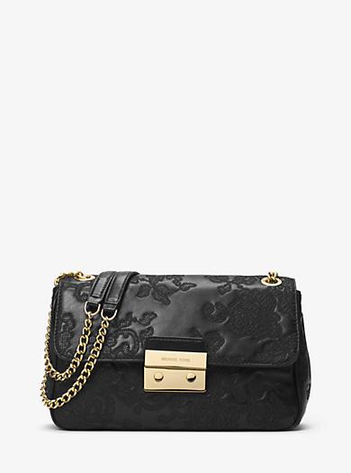 Sloan Large Leather Shoulder Bag by Michael Kors