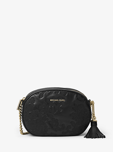Tracolla Ginny media in pelle by Michael Kors