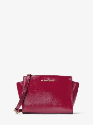 Selma Medium Patent Leather Messenger by Michael Kors