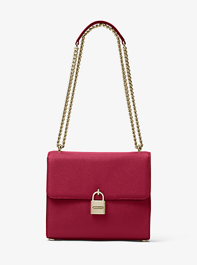 Mercer Large Leather Messenger by Michael Kors